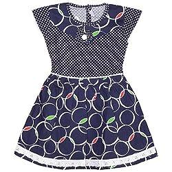 Rush Me Baby Girls' Dress (S.R.2016_7 Years, 7 Years, Navy)