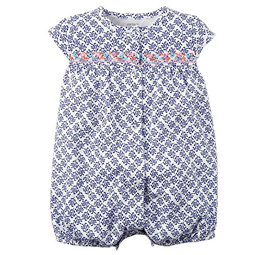 carters-baby-girls-1-piece-applique-snap-up-romper-18-months-blue-medallion