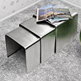 Zuo Aura Nesting Table Stainless Steel