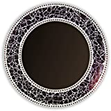 Decorative Smith Glass Wall Mirror (Pack Of 3) - (24 Inches, Brown)