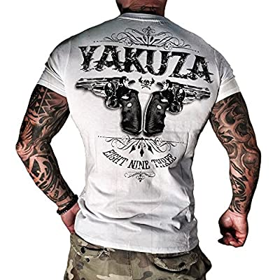 Yakuza T-Shirt Herren Round Neck TSB 674 Daily Use - Two Colts weiss - Special Collection 2015