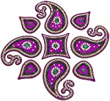 Decoration Craft Acrylic Rangoli (33 Cm x 33 Cm, Purple)