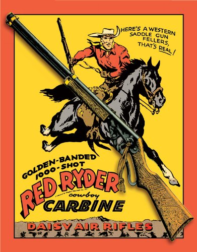 Tin Sign Daisy Red Ryder