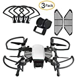 Nicertain Dji Spark Accessories Kits, Including Propeller guards + Foldable Landing Gear, Lens Hood Sun Shade, Finger Guard Board for Dji Spark Drone (3 Pack)