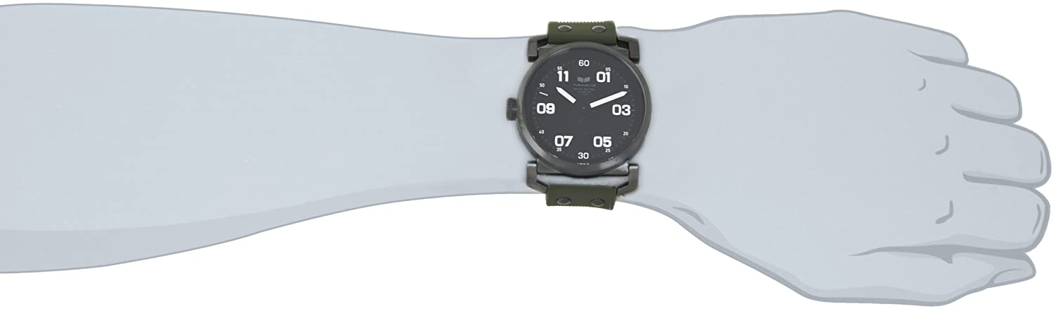 Vestal Men's OB3S003 USS Observer Gunmetal with Army Silicone Watch