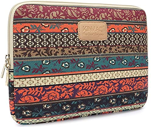 04. Kinmac New Bohemian Canvas Neoprene Waterproof Laptop Sleeve Case Bag 13 Inch for 13.3 inch laptop and Macbook Air 13 case Macbook Pro 13 Sleeve 13.3 Inch Laptop Bag