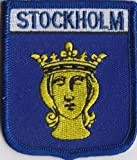 Stockholm Sweden Flag Embroidered Patch Badge