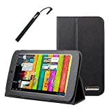 BIRUGEAR SlimBook Leather Folio Stand Case with Stylus for Archos 70 Titanium HD - 7' Android Internet Tablet