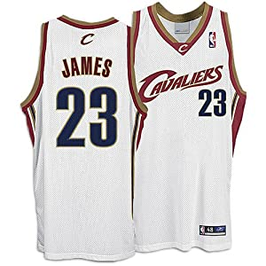 Lebron James Cleveland Cavaliers Authentic NBA White Jersey by Reebok
