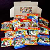 Haribo Mega Party Treat Box - Starmix, Supermix, Happy Cola, Tangfastics Mini Packs - Birthday, Thank you Gift Idea - By Moreton Gifts