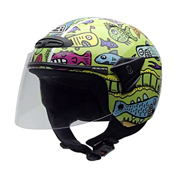 NZI 050017G408 autres casques helix iI multi jr happy fish casco de moto multicolore