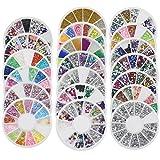 Bluelans® 20x 3D Glitters Blume Nagelsticker Schleife Strass Nagel Art