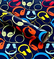Multicoloured Headphones Roll Wrap