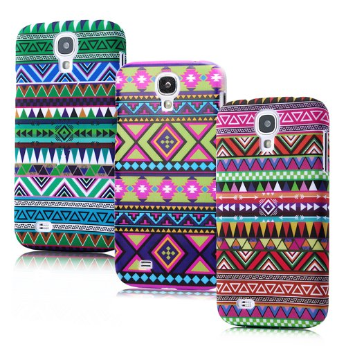 Mollycoocle 3X Triangle Tribe Series Colorful Striped Triangle Tribe Tribal Sweater Pattern Case For Samsung Galaxy S4 I9500