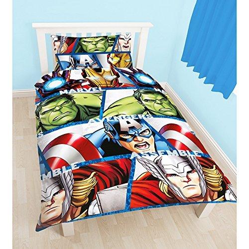 marvel avengers parure r versible pour lit simple enfant. Black Bedroom Furniture Sets. Home Design Ideas