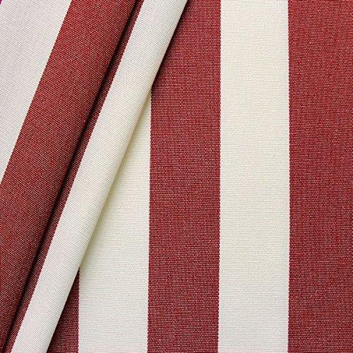 Markisen Outdoor Stoff 'Streifen' Meterware Breite 160cm Rot-Weiss