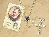 Blessed by Pope Francis Vintage Inspirations Rosaries Padre Pio Saint Pio J-316 FREE Scented Candle