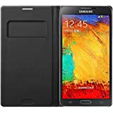 Samsung EFWN900B Etui Portefeuille en cuir pour Samsung Galaxy Note 3 Noir