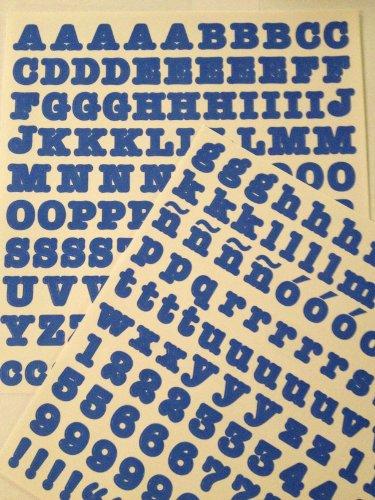 ABC/123 Stickers: Blue Original Letters - 1