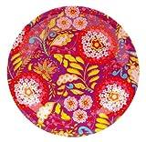 C.R. Gibson Iota Dena Collections Melamine Dinner Plate, Garden Spree, 11-Inch, Pink