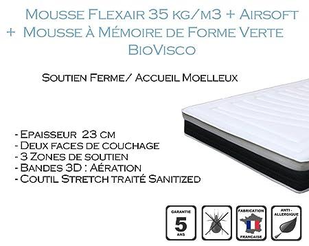 Armorel MAF350110/220 Form 350 Matelas Mousse Blanc 220 x 110 cm