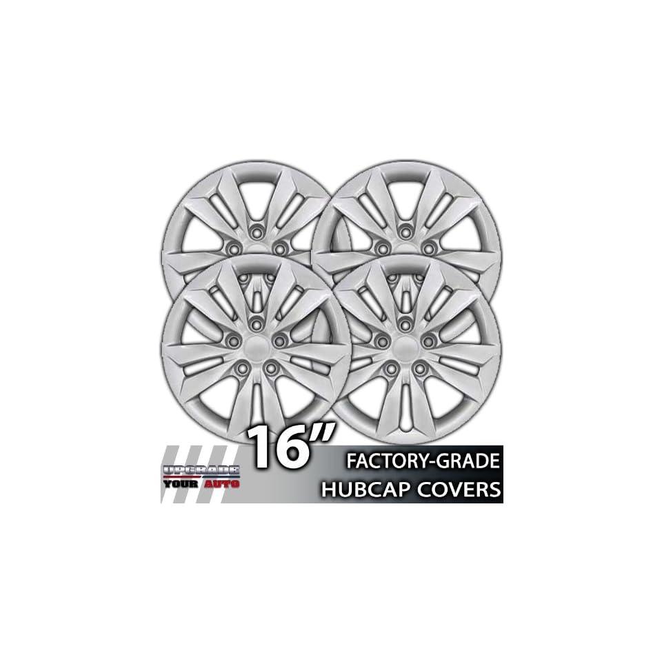 2011 2012 Hyundai Sonata 16 Inch Silver Metallic Clip On Hubcap Covers