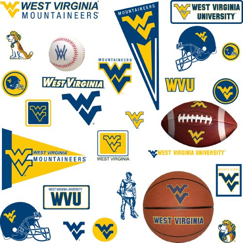 RoomMates RMK1372SCS West Virginia University Peel & Stick Wall Decals