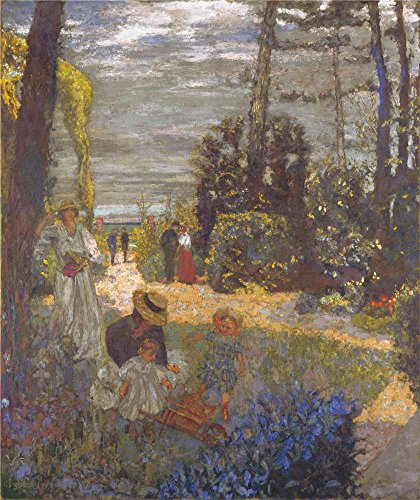 Oil Painting 'Edouard Vuillard The Terrace At Vasouy The Garden ' Printing On High Quality Polyster Canvas , 8 X 10 Inch / 20 X 24 Cm ,the Best Study Gallery Art And Home Artwork And Gifts Is This High Resolution Art Decorative Canvas Prints