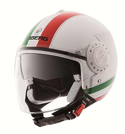 Caberg - Casque - RIVIERA V2 ITALIA - Couleur : Vert/Blanc/Rouge - Taille : XL