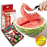 I-Do Gadget - Watermelon Slicer Corer & Server With 5 Free Dessert Forks + Watermelon Popsicle Recipe. Stainless Steel Melon Cutter Knife, Safety Blades, Robust Protective Handle, Kids Friendly
