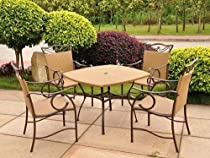 Big Sale Valencia Wicker Resin Patio Set - Seats 4