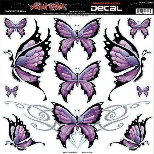Lethal Threat Decals Large Butterfly Sheet 12X12 Lt06042