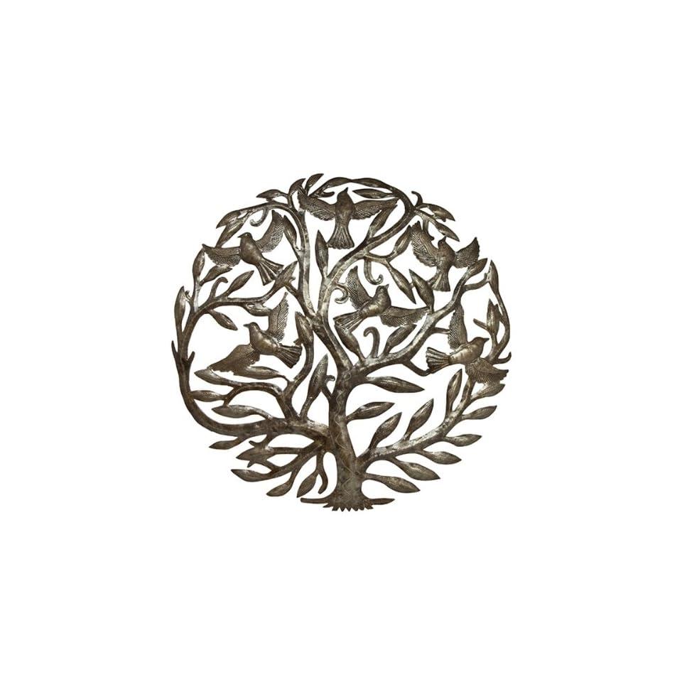 Haitian Metal Art Tree Design Wall Hanging