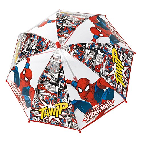 Parapluie Dome Transparent Spiderman Ouverture Manuelle