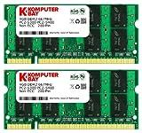 Komputerbay 8GB 2x 4GB DDR2 667 MHz PC2 5300 5400 SODIMM CL5 200pin 1.8v for HP Laptops