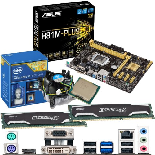 Intel Core I3 4130 3.4ghz, Asus H81m-plus Motherboard & 16gb 1600mhz Ddr3 Crucial Ballistix Sport Ram Bundle Picture