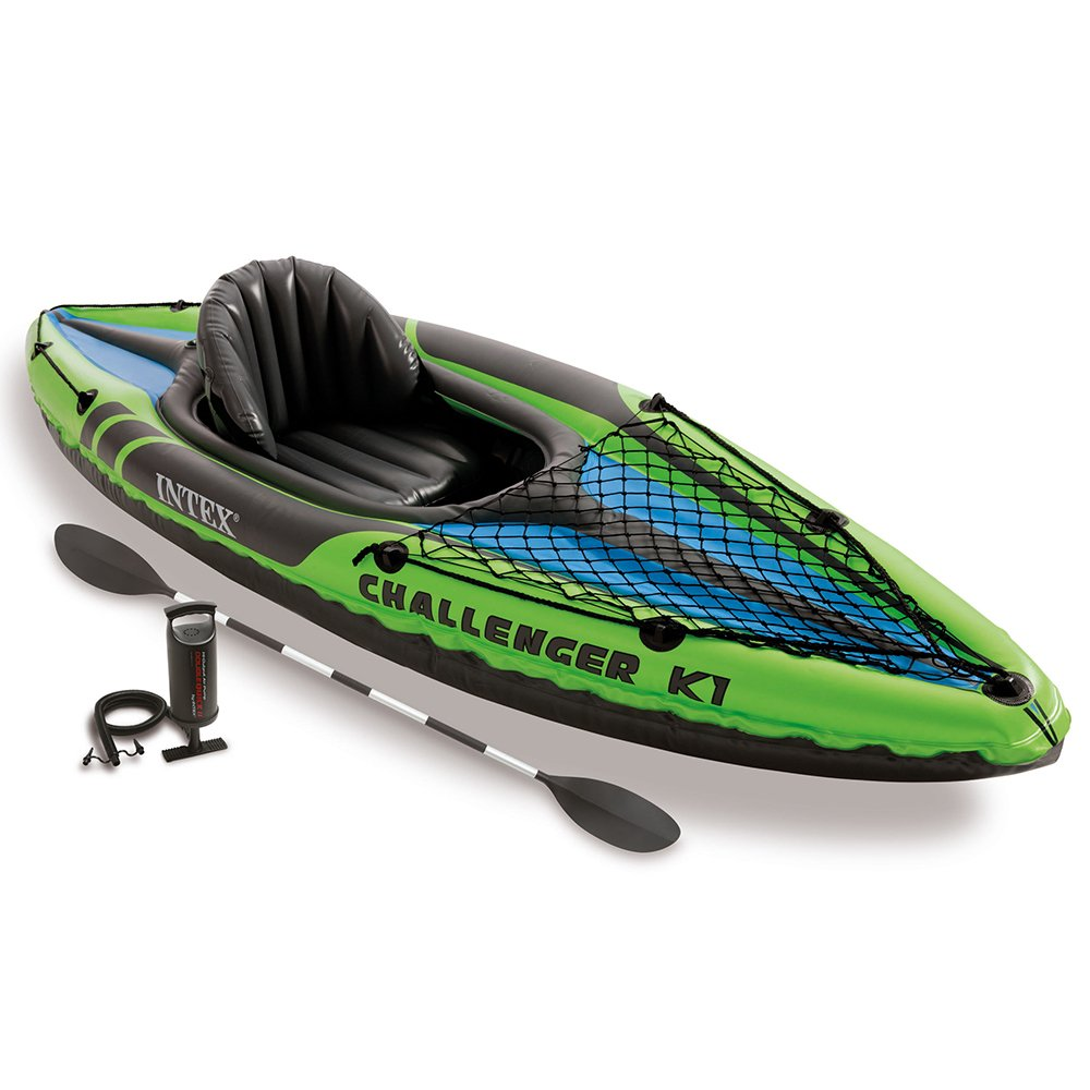 Intex Challenger K1 Kayak-1 Person Inflatable Kayak Set with Aluminium Oars and High Output Air Pump Review