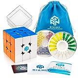 D-FantiX Gan 356 X Magnetic Stickerless Speed Cube 3x3 Gan X Cube 3x3 Puzzle Toy (IPG v5 Version) (Color: Stickerless)