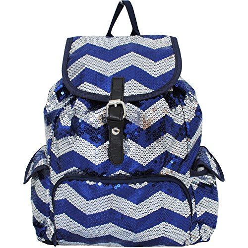 Chevron Sequined Backpack