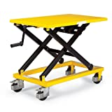 Mobile Scissor Lift Table - 660-Lb. Capacity