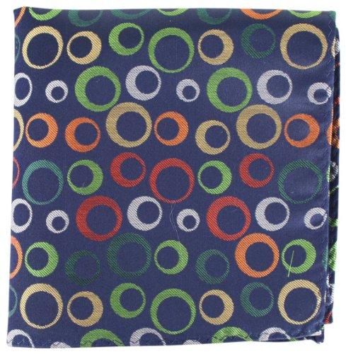 Black Circles and Stripe Silk fazzoletto di Knightsbridge Neckwear