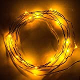 20 Led 星空の光妖精銅線 LED ストリング ライト ランプ電池式 2 m/7 フィートの子ギフト結婚式の装飾、お祝い、誕生日パーティーのため