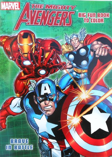 "Marvel The Mighty Avengers Coloring Book with Captain America, Hulk and Thor ""Brave in Battle"""