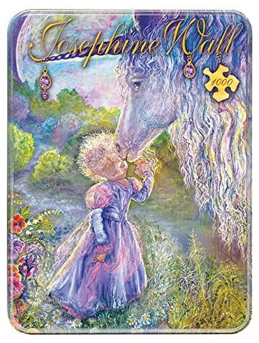 MasterPieces Puzzle Company Unicorn Kiss Collectible Jigsaw Puzzle Tin (1000-Piece), Art by Josephine Wall