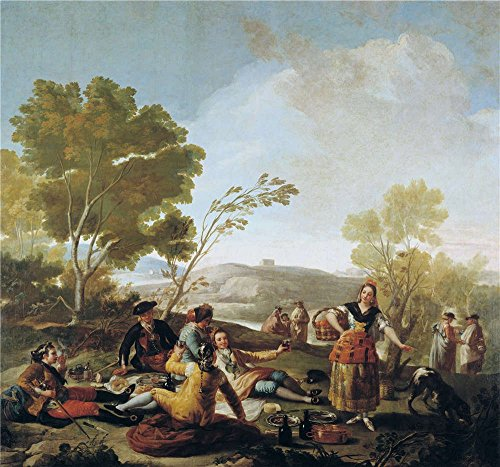 'Goya Y Lucientes Francisco De Picnic On The Banks Of The Manzanares 1776 ' Oil Painting, 30 X 32 Inch / 76 X 82 Cm ,printed On Polyster Canvas ,this Beautiful Art Decorative Prints On Canvas Is Perfectly Suitalbe For Hallway Artwork And Home Decoration And Gifts