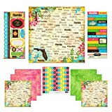 Scrapbook Customs Themed Paper and Stickers Scrapbook Kit, Florida Paradise