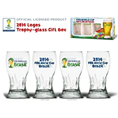 2014 Logos Trophy-glass Gift Box - 2014 Fifa World Cup Brazil Official Licensed Product