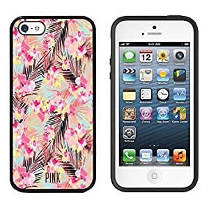 iPhone SE Case, DOO UC (TM) Ultra Protective Cases For Apple iPhone SE (2016) & iPhone 5S 5 Black Case - Vivid Flower Printed pattern