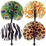 Safari Folding Fans : (1-Pack of 12)