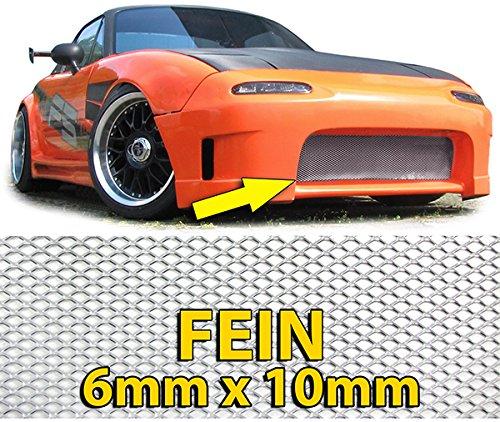 Carparts-Online GmbH 26433 ALU GITTER RENNGITTER WABENGITTER RACEGITTER 135X30CM SILBER FEIN